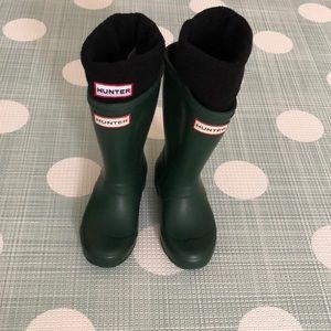 💚Hunter Boots + Fleece Welly Boot Socks🖤
